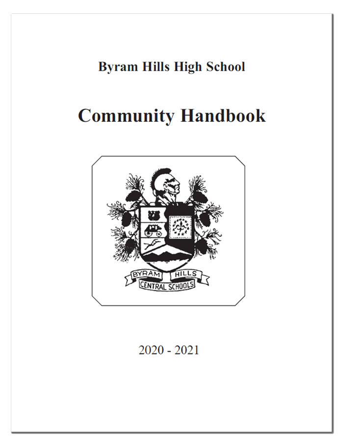 BHHS Community Handbook / Code of Conduct Cover