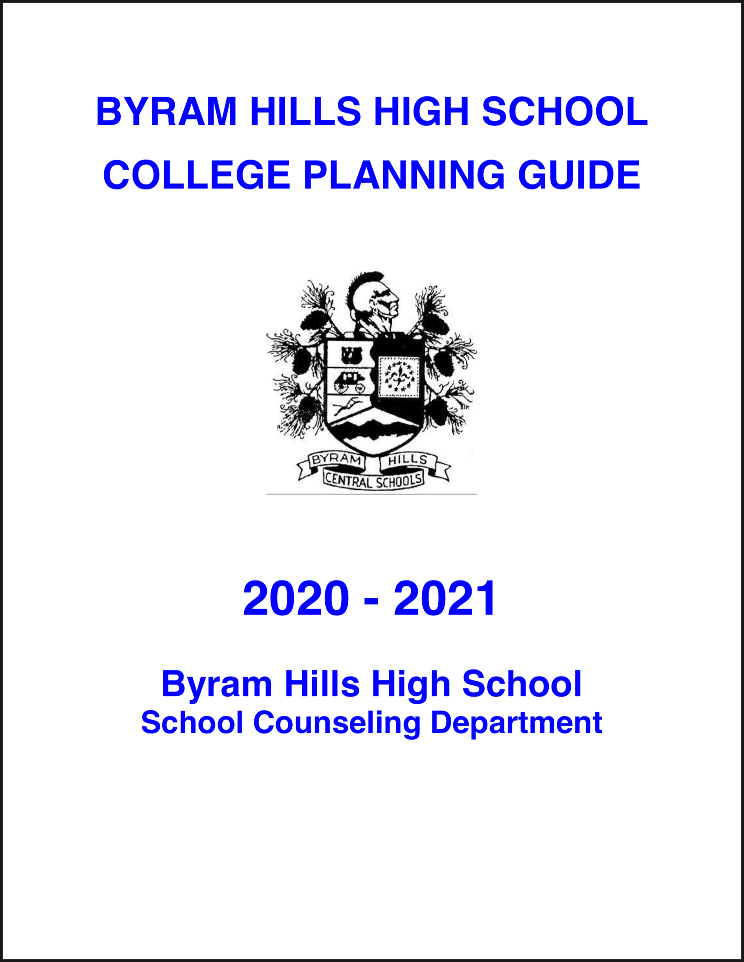 BHHS College Planning Guide 2020-2021