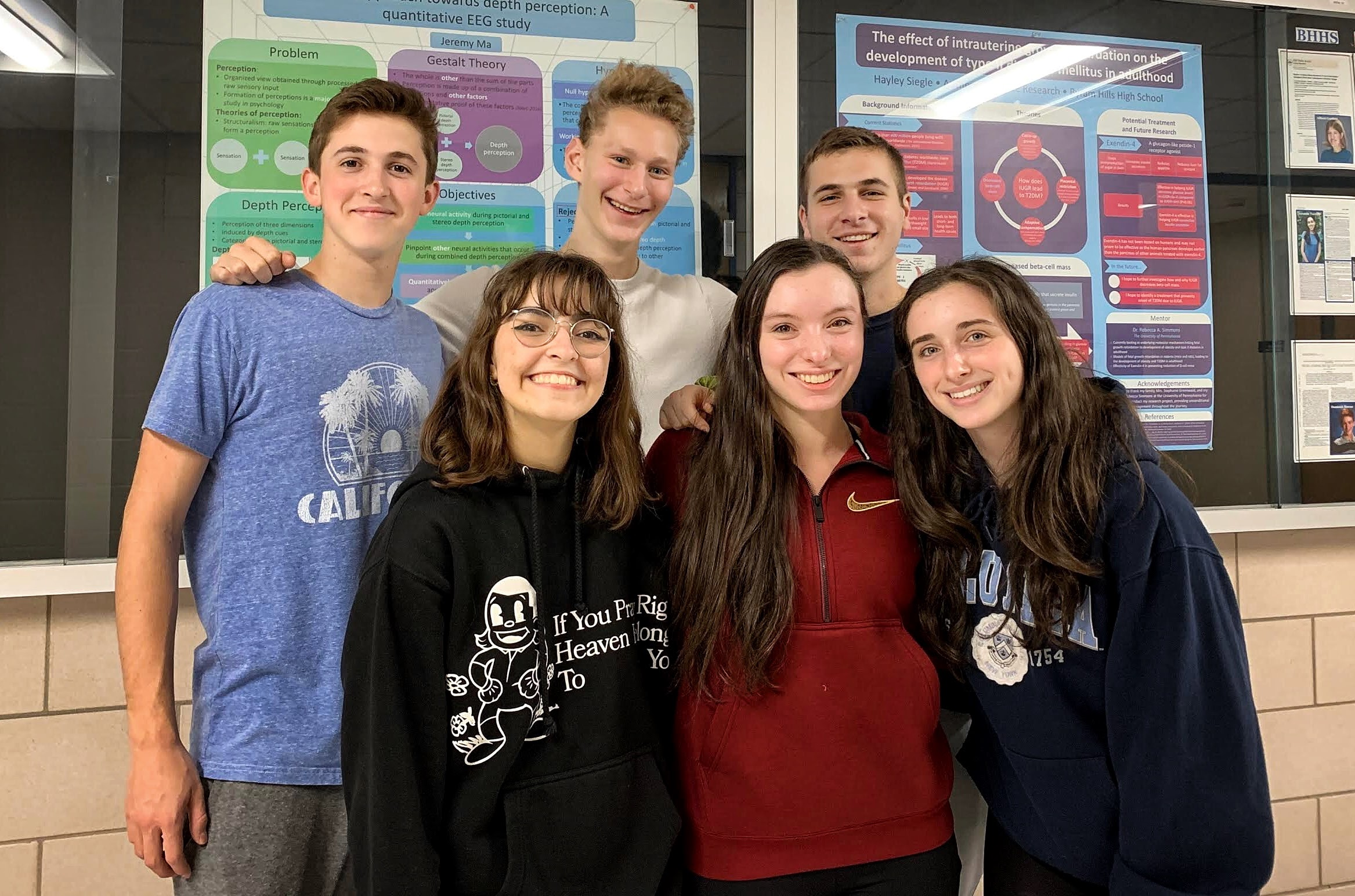Six Byram Hills High School Students Selected  as Regeneron Science Talent Search Semifinalist