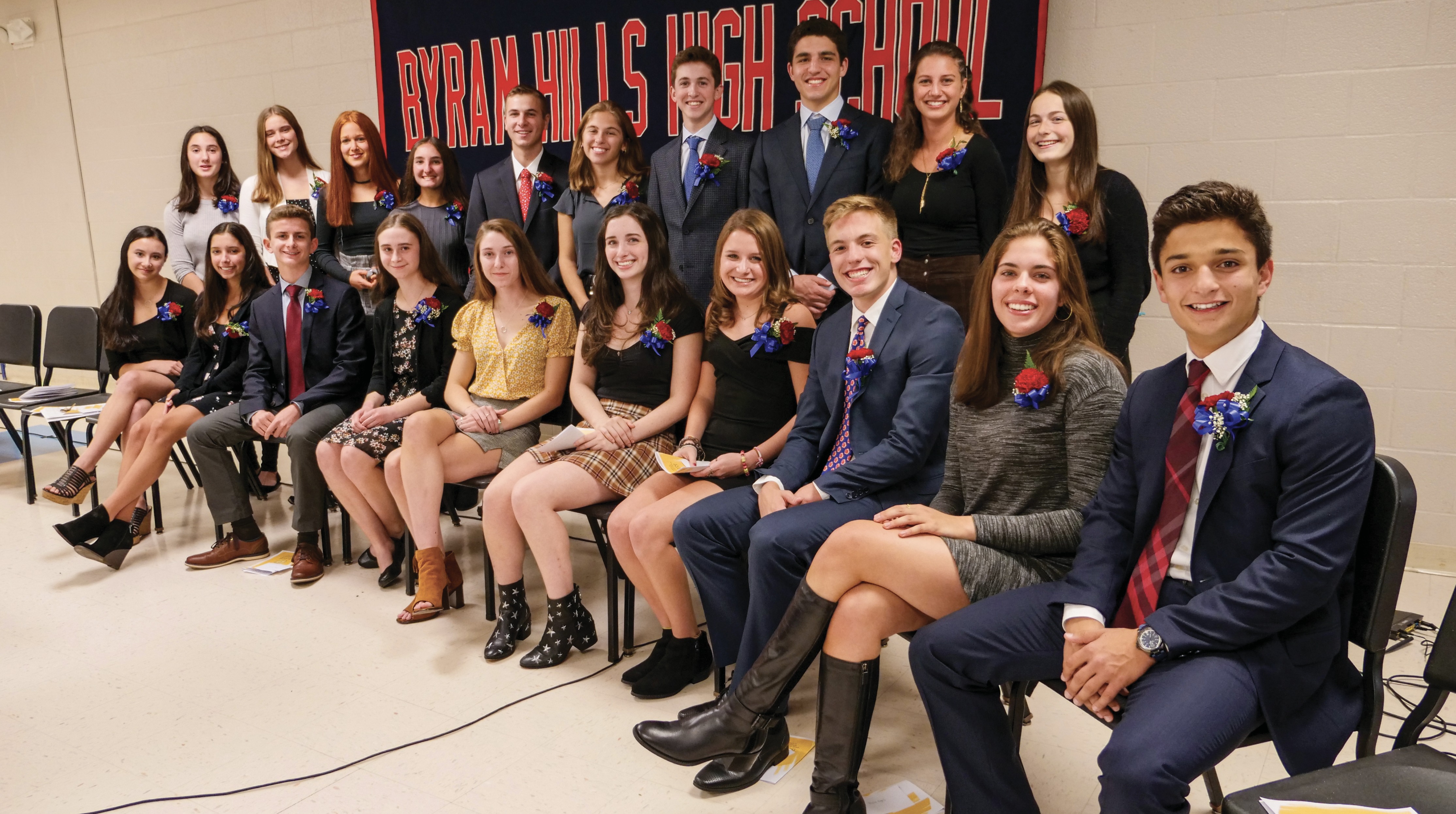 Twenty Byram Hills High School Seniors Are Inducted Into Cum Laude Society